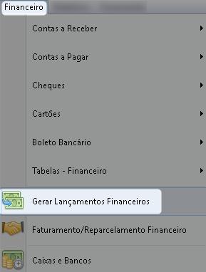 Gerar Lançamentos Financeiros