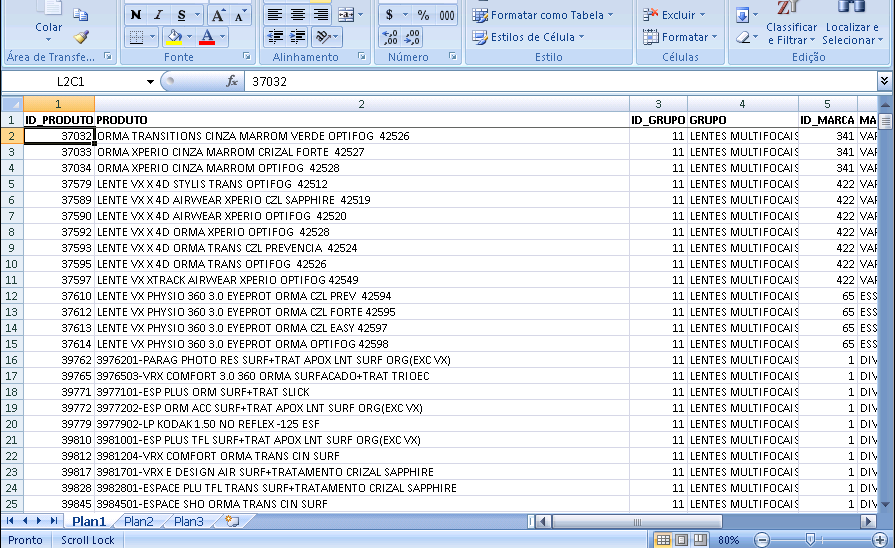 Excel Valor do Estoque na Posição